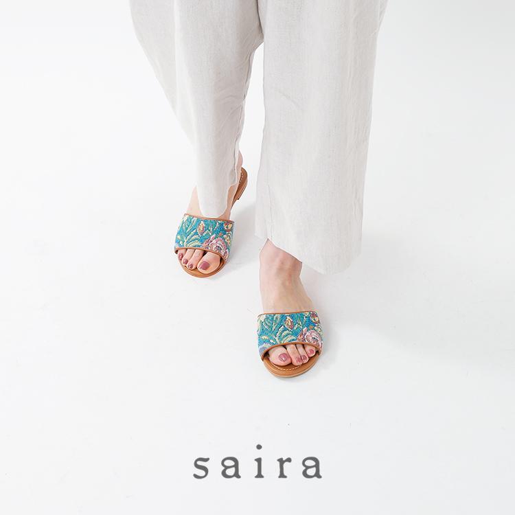 saira(サイラ)エスニックテキスタイル フラットサンダル sanderling
