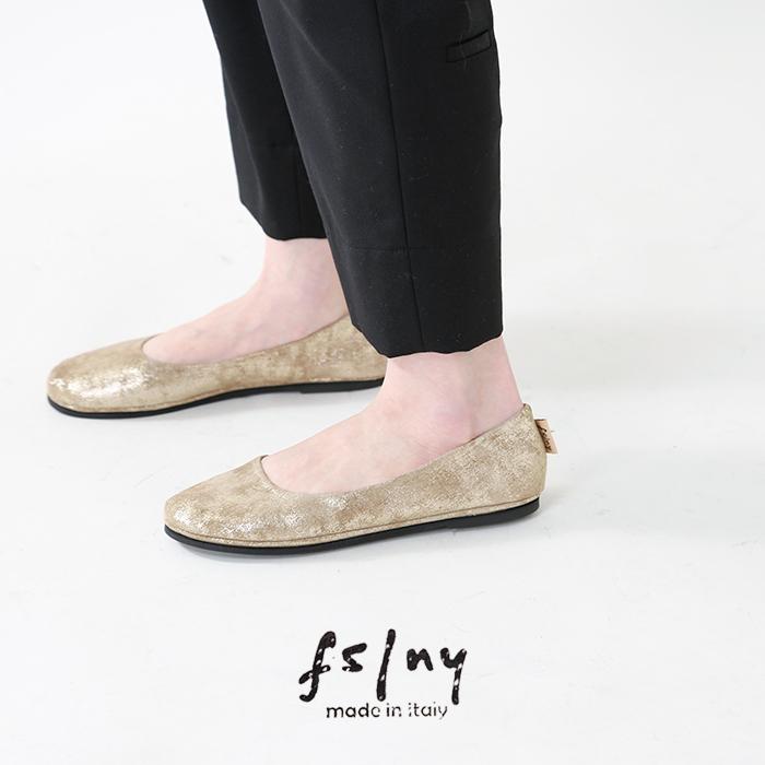 """fs/ny(エフエススラッシュエヌワイ)メタルスエードバレエシューズ""""ankara""""sloop-metal"""