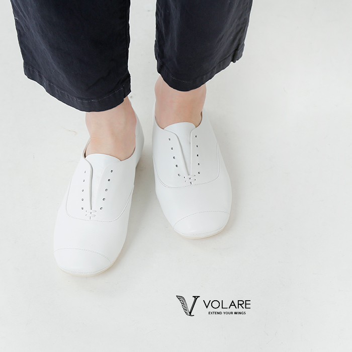volare(ヴォラーレ)レザーフラットシューズ wing