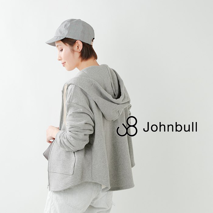 Johnbull(ジョンブル)シャツテール裏毛パーカー zc458