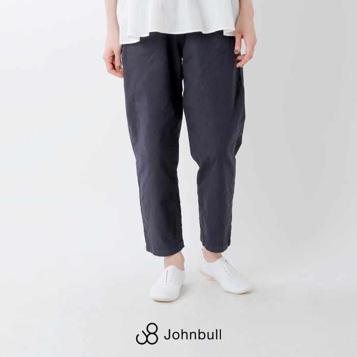 Johnbull(ジョンブル)綿麻ストレッチスリップオンイージーパンツ zp093