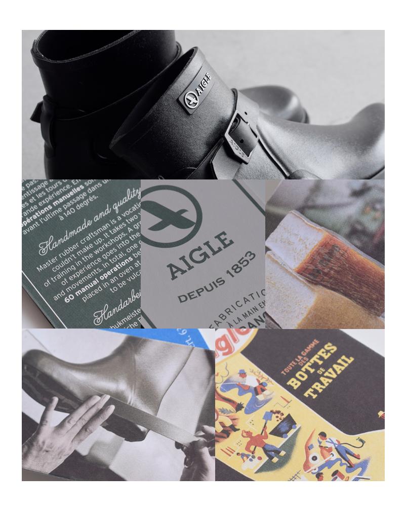 """AIGLE(エーグル)ラバーミドルブーツ""""MACADAMES LOW"""" zzf8448"""