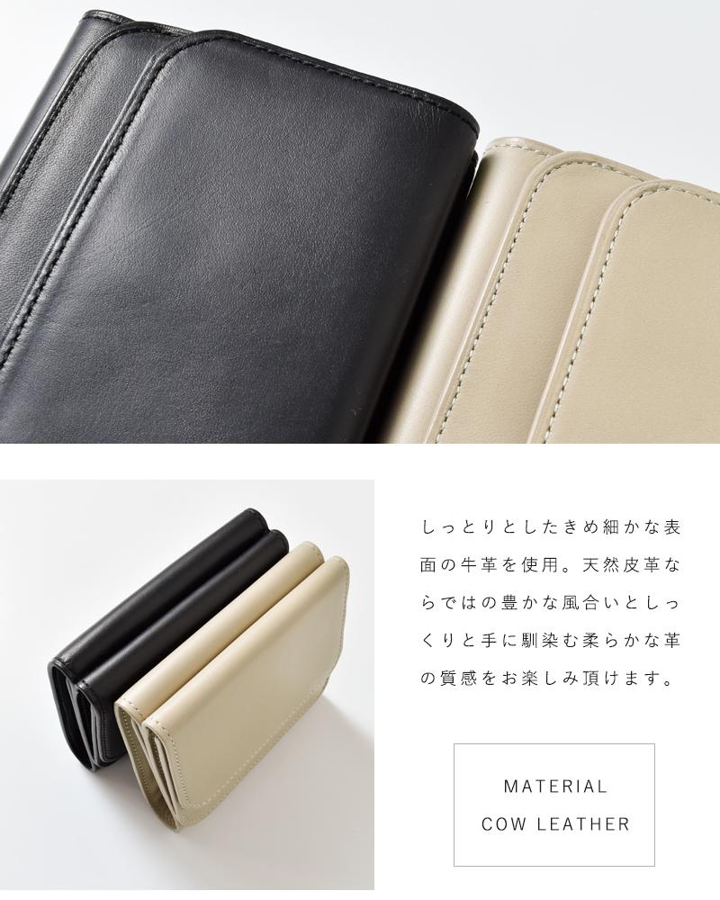 MY(マイ)×TOMO NARIAI(トモ ナリアイ)カウレザートリフォルドウォレット 203-61901