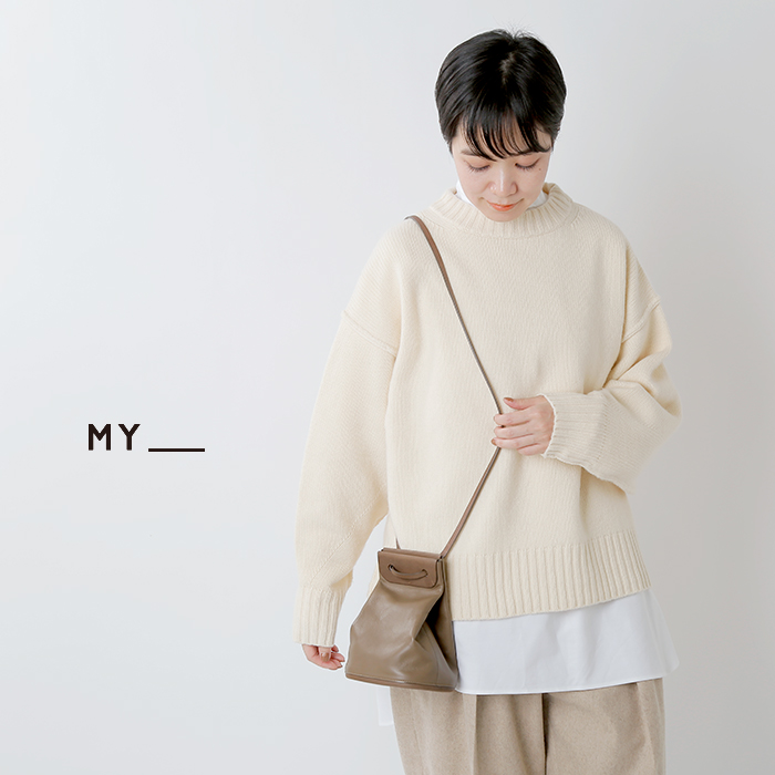 MY(マイ)×TOMO NARIAI(トモ ナリアイ)カウレザーミニマルショルダーバッグ 203-61902