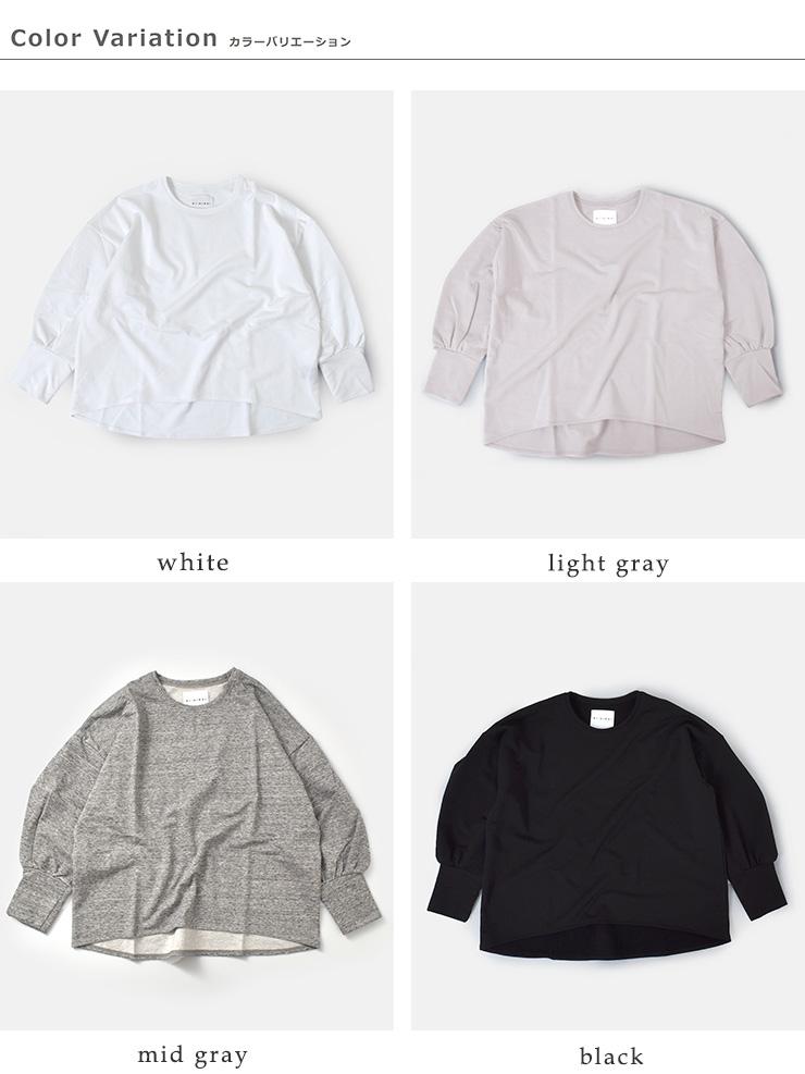 SI-HIRAI(スーヒライ)ツリークォーターズコットンバルーンスリーブTシャツ chaw20-3803