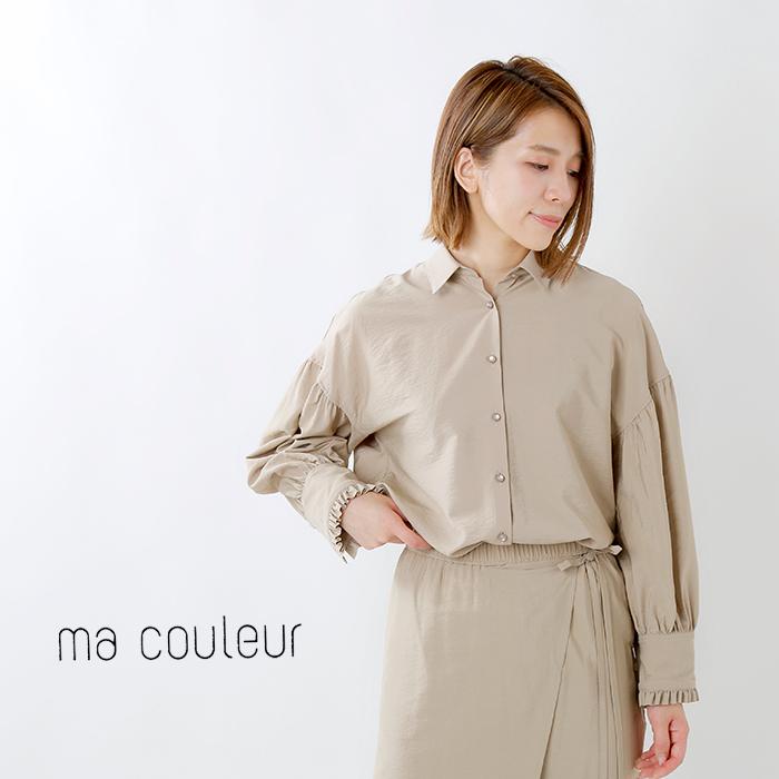 ma couleur(マ クルール)袖フリルブラウス j-4001