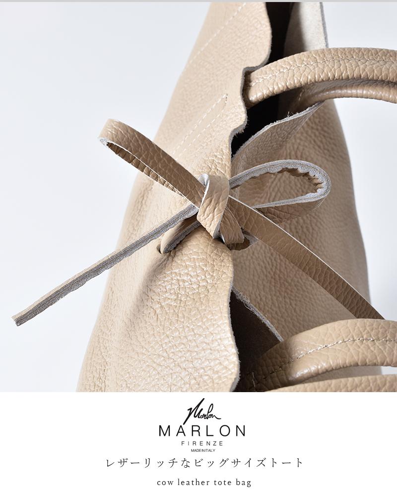 """MARLON FIRENZE(マーロンフィレンツェ)カウレザーショッパーバッグ""""SHOPPER MAXI TAGLIO"""" shopper-maxi-taglio"""