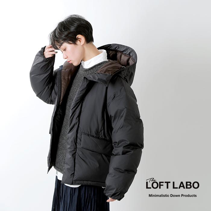 "The Loft Labo(ロフトラボ)×KAWADA FEATHER(カワダフェザー)フーデッドボリュームダウンジャケット""VENDY"" tl20fjk43"