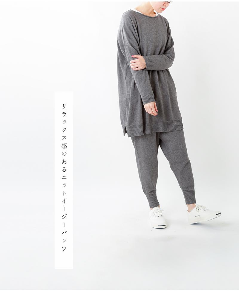 evam eva(エヴァムエヴァ)コットンカシミヤパンツ v203k903