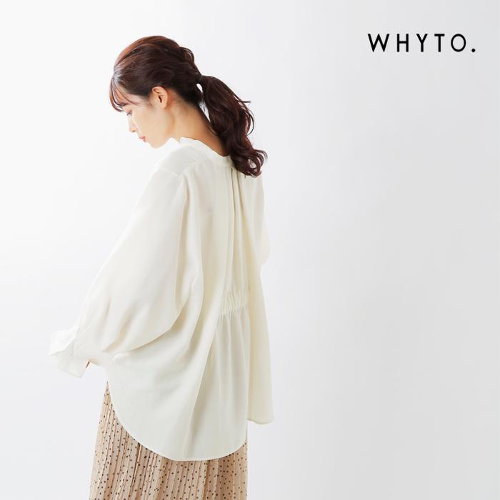 whyto(ホワイト)シルキードライスキッパーブラウス wht20fbl5