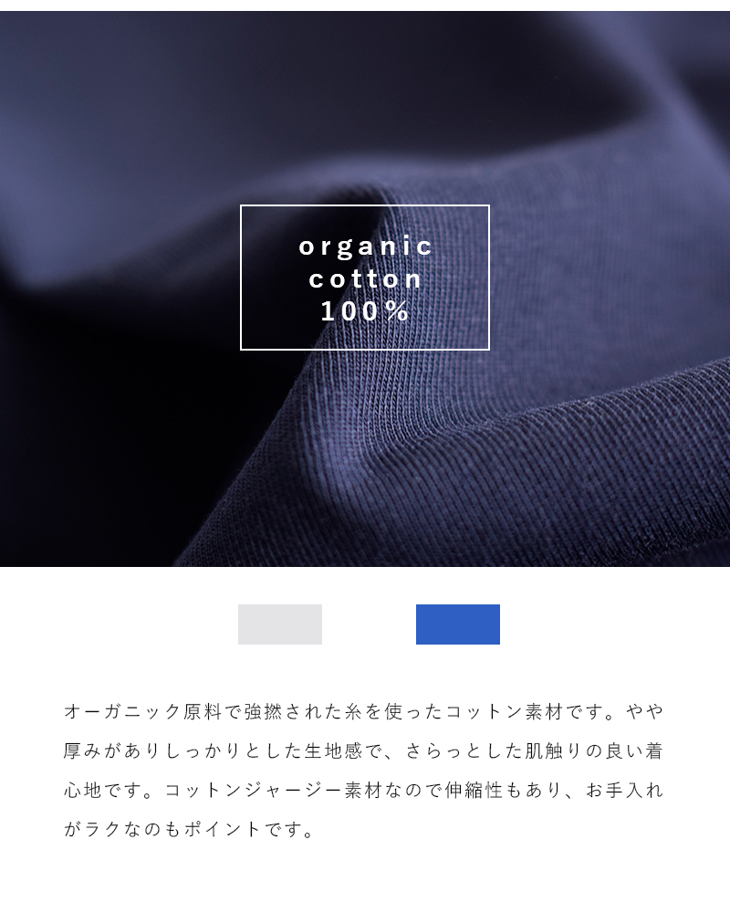 Scye(サイ)オーガニックコットンジャージーラグランTシャツ 1220-21235