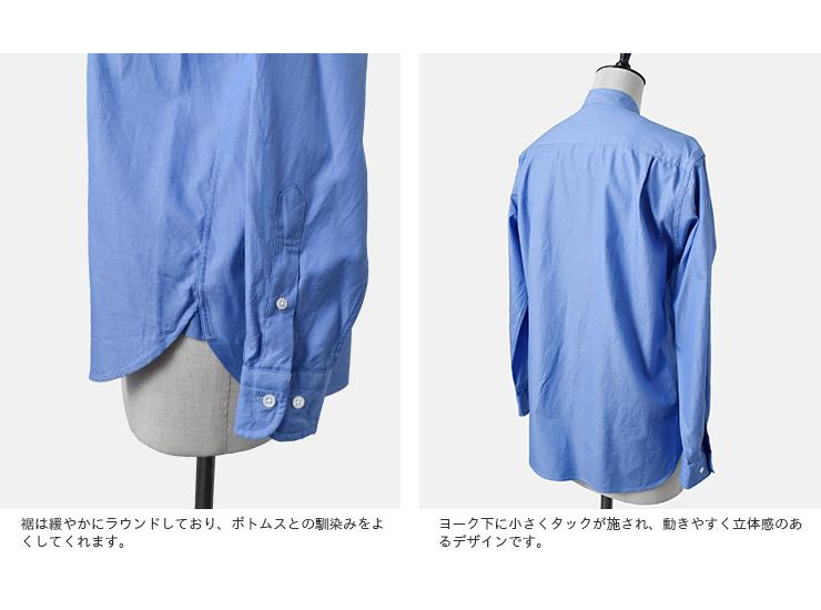 SCYE BASICS(サイベーシックス)フィンクスコットンオックスフォードグランダッドカラーシャツ 5220-31504
