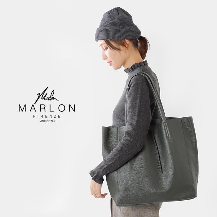 "MARLON FIRENZE(マーロンフィレンツェ)カウレザーショッパーバッグ""SHOPPER MAXI TAGLIO"" 53203-3-00705"