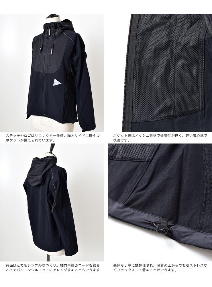 "and wander(アンドワンダー)トレックフードジャケット""trek jacket 2"" 574-0121005"
