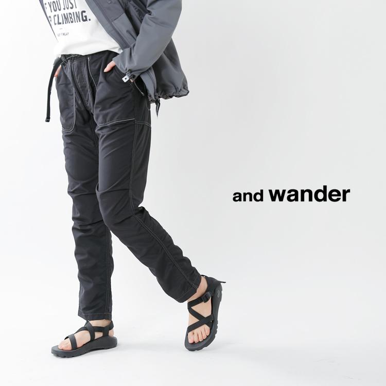 and wander(アンドワンダー)ナイロンクライミングパンツ 574-0152005