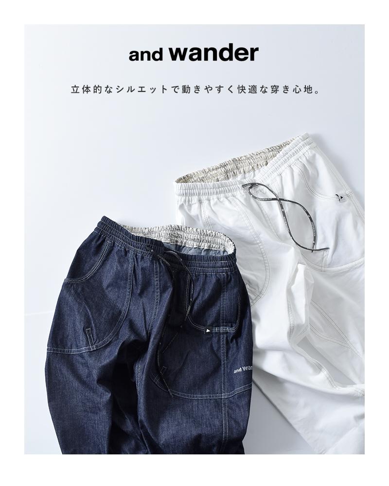and wander(アンドワンダー)ドライイージーデニムパンツ 574-0182004