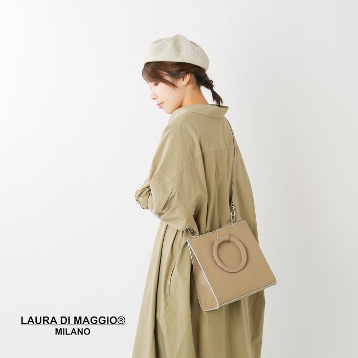 LAURA DI MAGGIO(ローラディマジオ)レザーショルダートートバッグ art-971