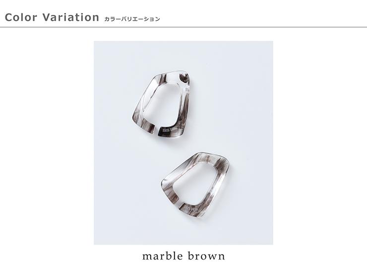 "SIRI SIRI(シリシリ)アクリルイヤーカフス""Ear cuffs Phantom Marble brown mini"""