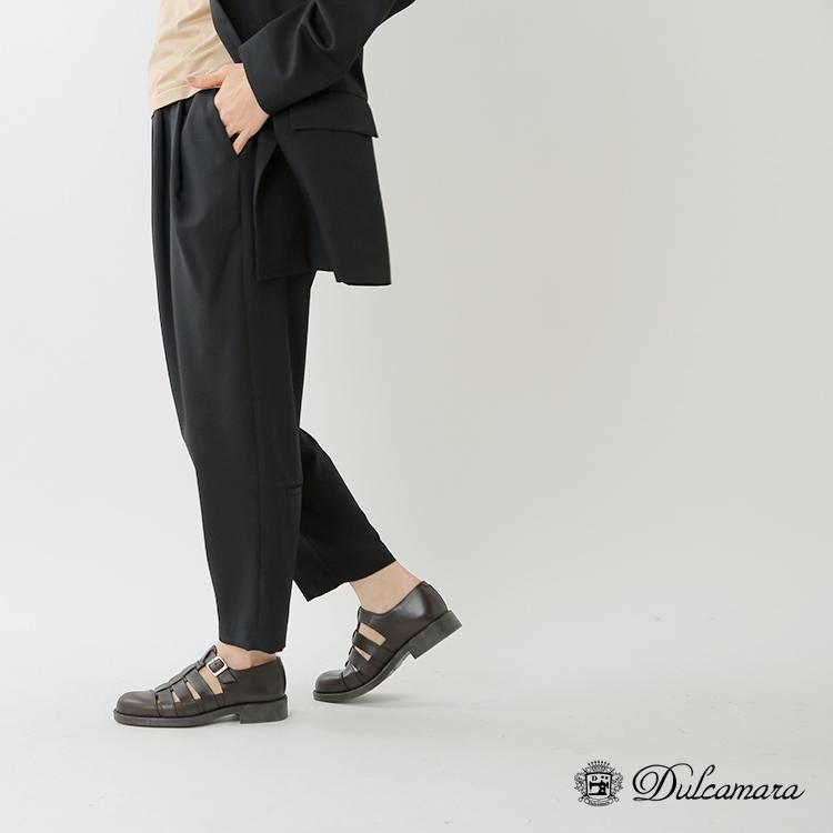 Dulcamara(ドゥルカマラ)ウールよそいきオーバータックパンツ d120-p106-p-p
