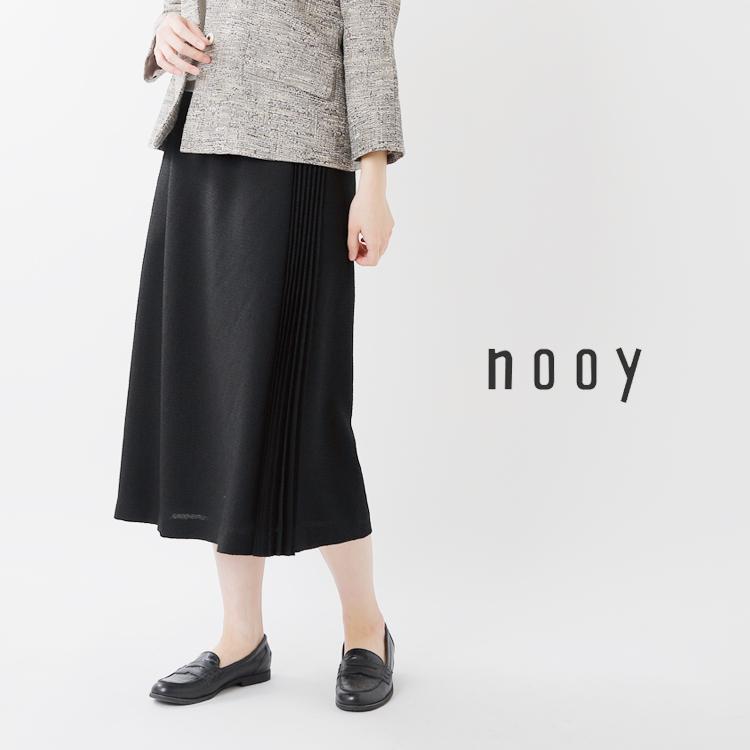 nooy(ヌーイ)ブークレジャガードブラックサイドプリーツスカート fsk04