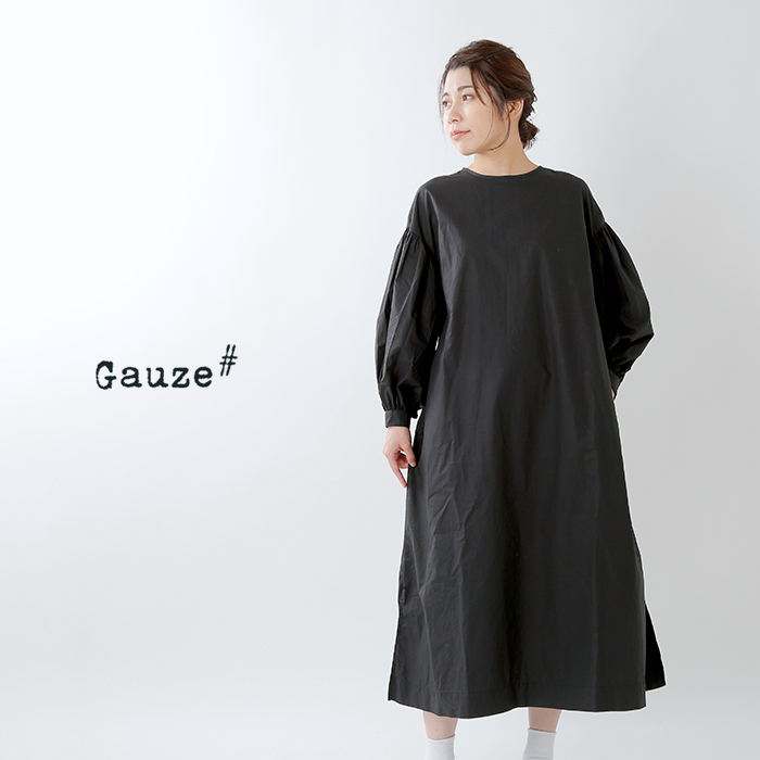 Gauze#(ガーゼ)コットンペザントスリーブギャザーワンピース g461