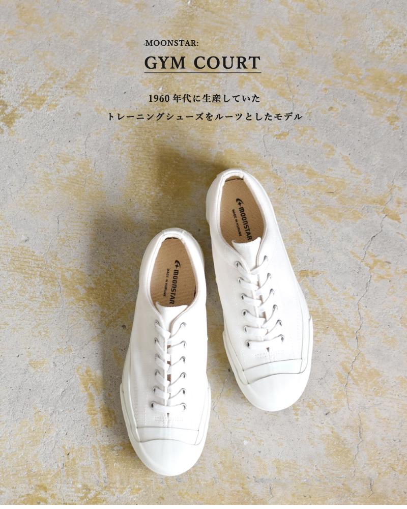 """Moonstar(ムーンスター)キャンバスレースアップスニーカー""""GYM COURT"""" gymcourt"""