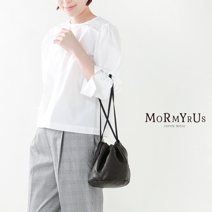 mormyrus(モルミルス)カウレザー巾着ショルダーバッグm088