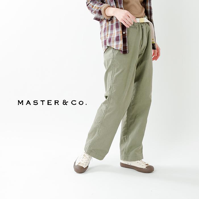 MASTER&Co.(マスターアンドコー)ベルト付きコットンチノパンツ mc076