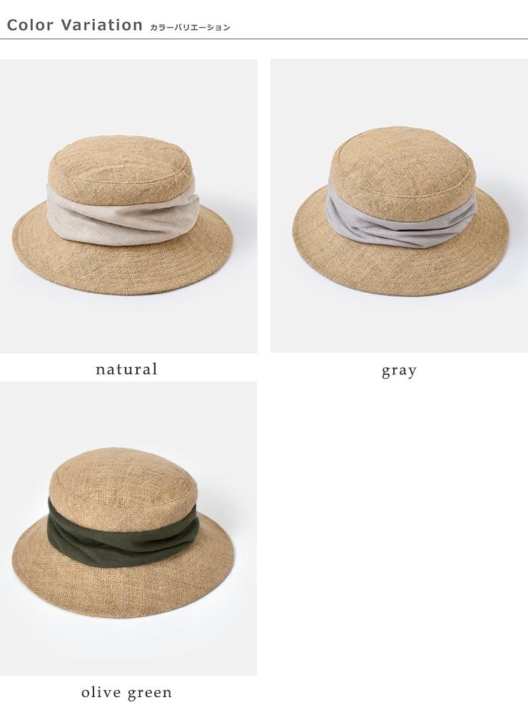 """mature ha.(マチュアーハ)ジュートドレープハット""""jute drape hat middle"""" mjt-015m"""