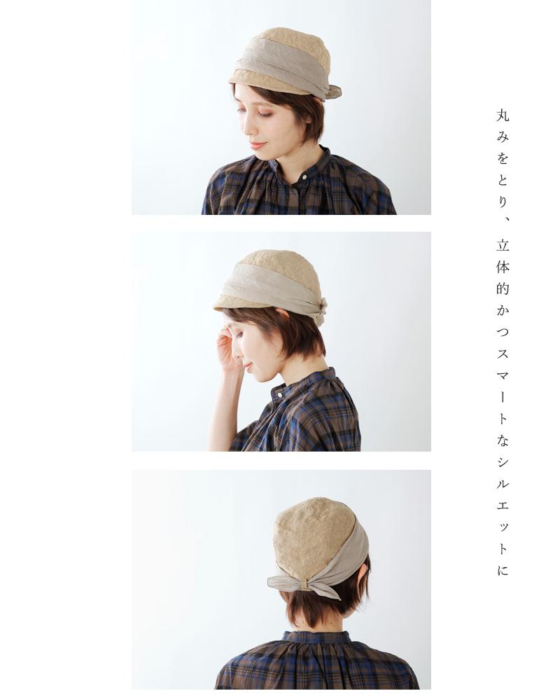 "mature ha.(マチュアーハ)ジュートスカーフキャップ""jute scarf cap"" mjt-030"