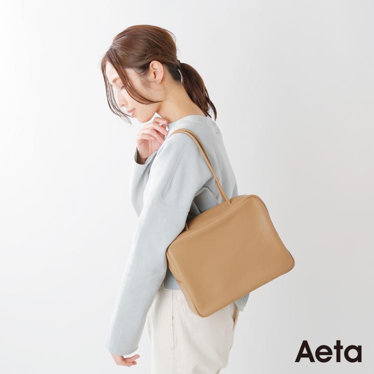 """Aeta(アエタ)カウレザーボストンバッグM""""PEBBLE GRAIN COLLECTION"""" pg22"""