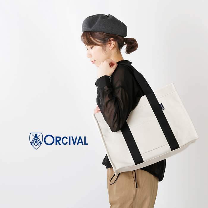 ORCIVAL(オーチバル・オーシバル)ライトキャンバスソリッドスクエアトートバッグ rc-7236lcv