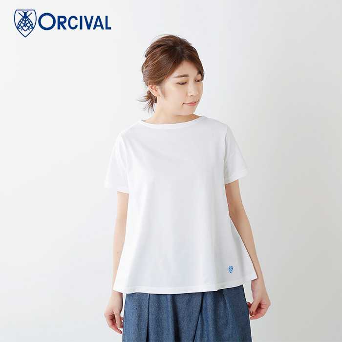 ORCIVAL(オーチバル・オーシバル)40/2ストライプショートスリーブプルオーバーrc-9215