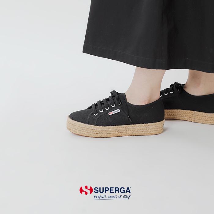 Superga(スペルガ)コットンジュートラバーソールシューズ s00cf20