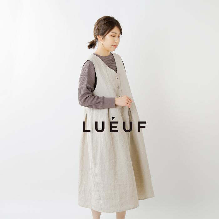 LUEUF(ルフ)リネンフロントボタンウエスト切り替えワンピース sa310915