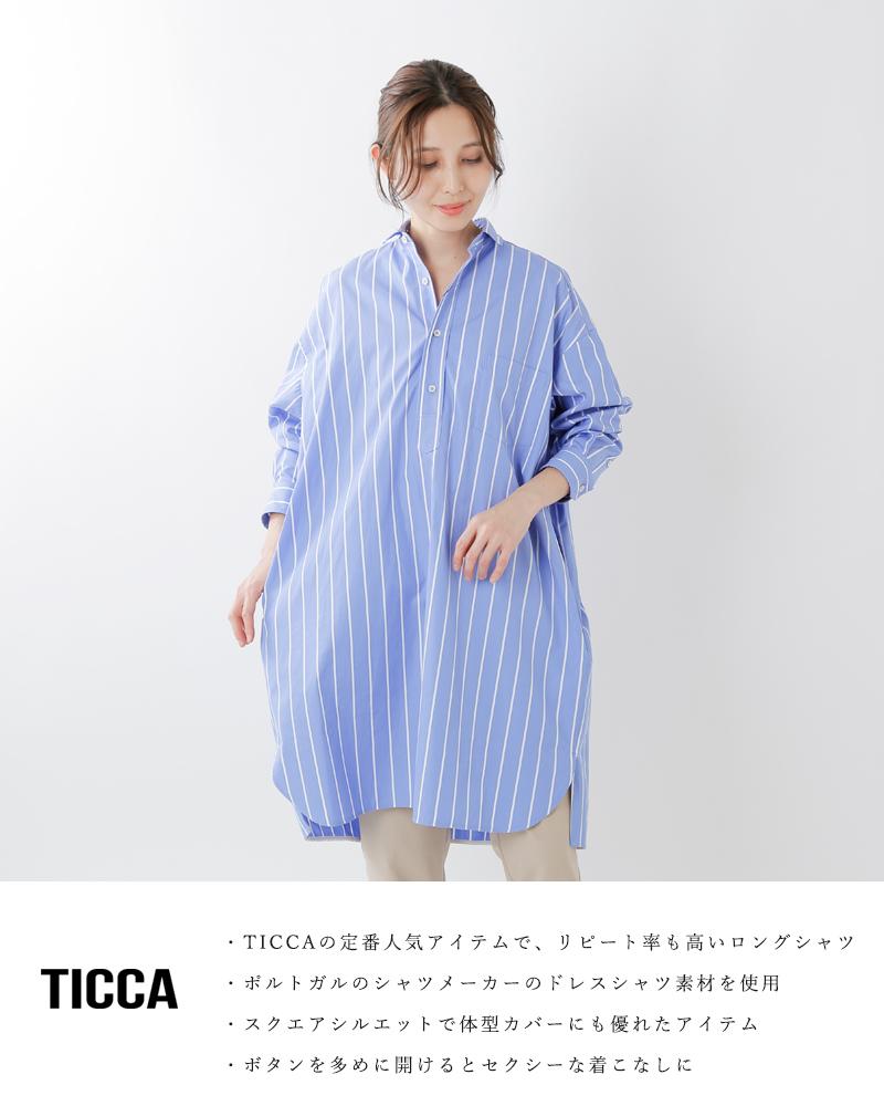 TICCA(ティッカ)コットンスクエアビッグロングシャツプルオーバー tbks-014-035