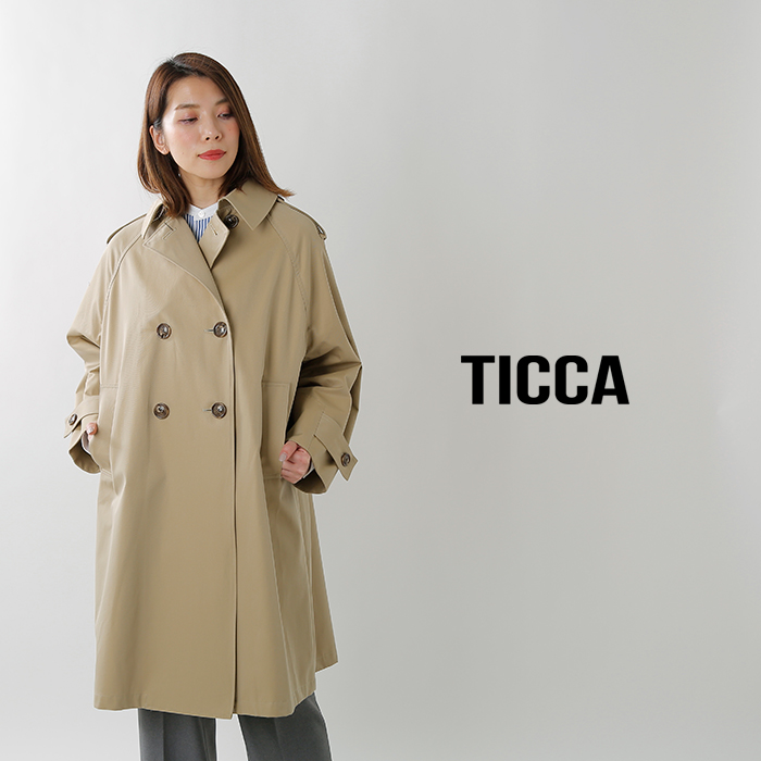 TICCA(ティッカ)撥水加工コットントレンチコート