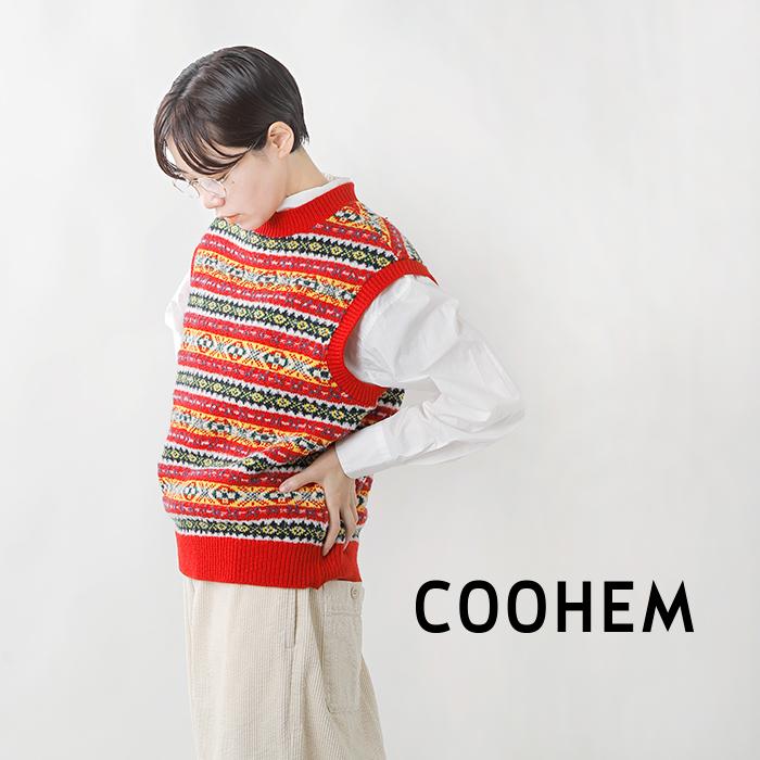 COOHEM(コーへン)フェアアイルウールニットベスト 11-214-018