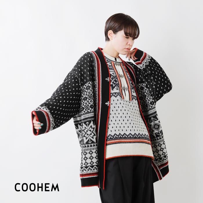 COOHEM(コーへン)ノルウェージャンウールニットカーディガン 11-214-020
