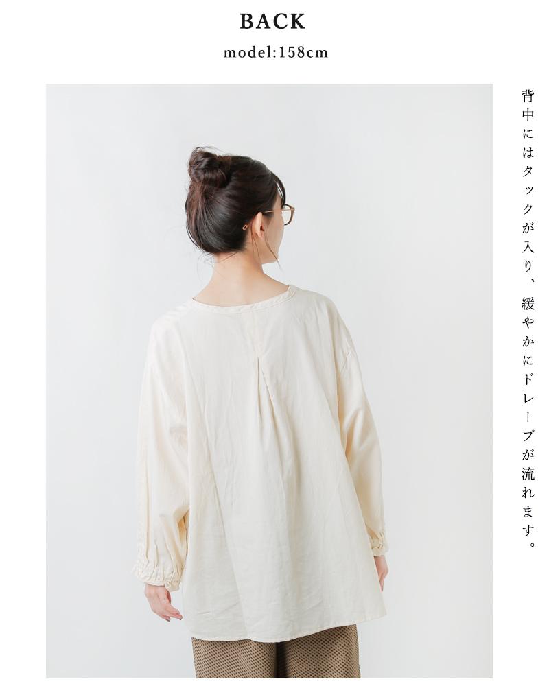 ARTE POVERA(アルテポーヴェラ)スーピマサテン120/20コットンギャザーカフシャツ 21wi03