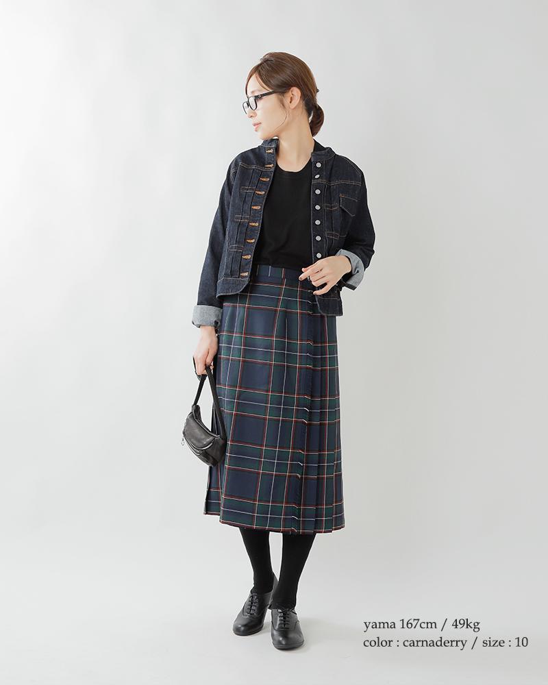 ONEIL OF DUBLIN(オニールオブダブリン)aranciato別注 ウールプリーツ巻きスカート 5073w
