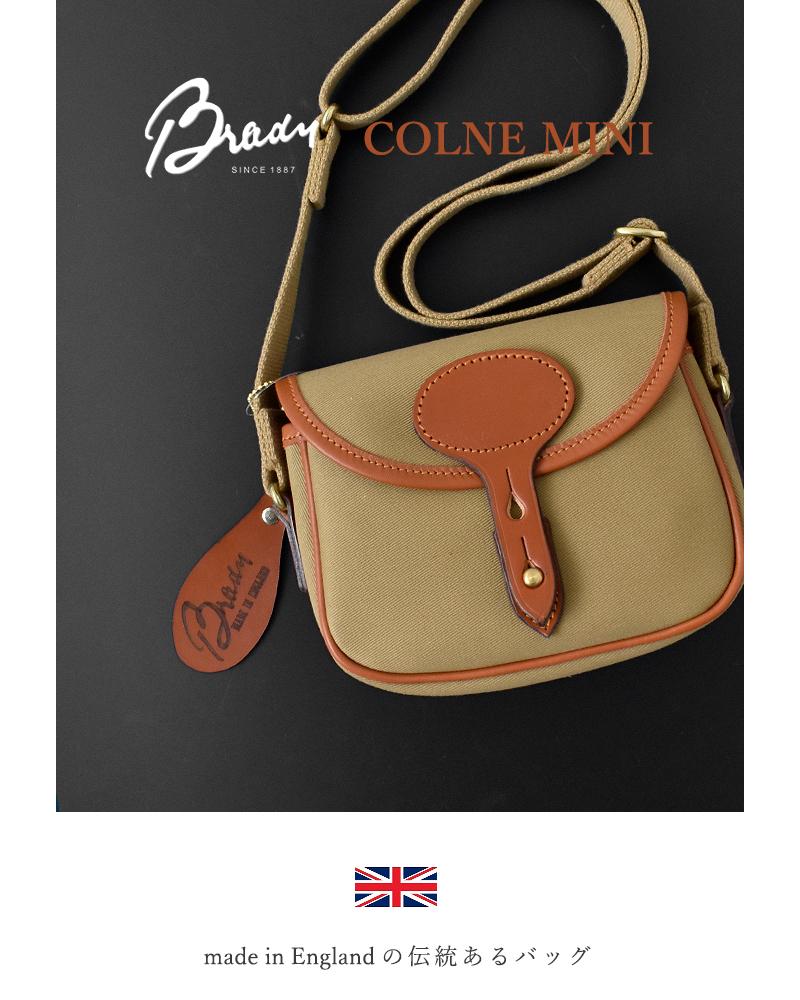 "Brady(ブレディ)ツイルミニショルダーバッグ""COLNE MINI"" colne-mini"