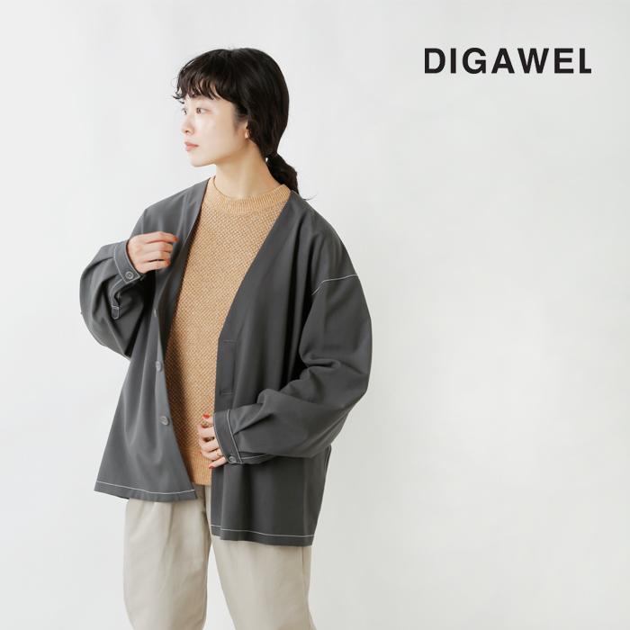 DIGAWEL(ディガウェル)ヘクサゴナルパターンスウェットプルオーバー dwub052