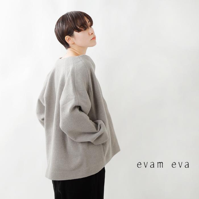 evam eva(エヴァムエヴァ)プレスウールノーカラーコート e213k114