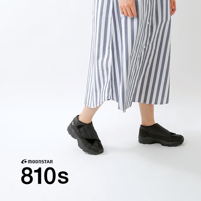 "moonstar 810s(ムーンスター エイトテンス)フルオープンスニーカー""UNIVE"" et006"