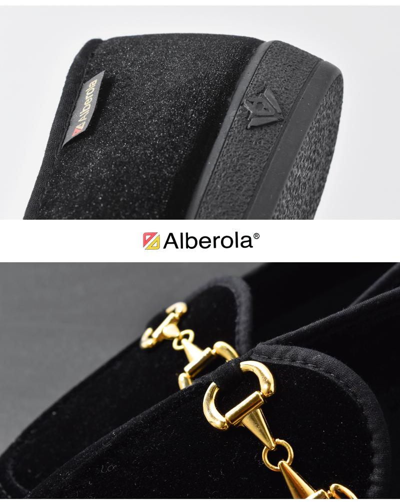 ALBEROLA(アルベローラ)ベルベットビットローファー f2211gm