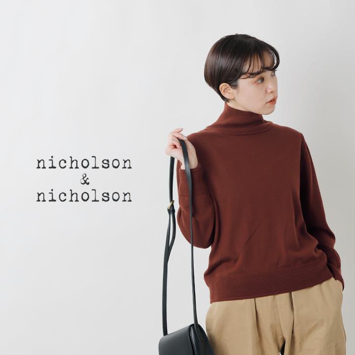 nicholson and nicholson(ニコルソンアンド ニコルソン)ウールハイゲージタートルネックセーター