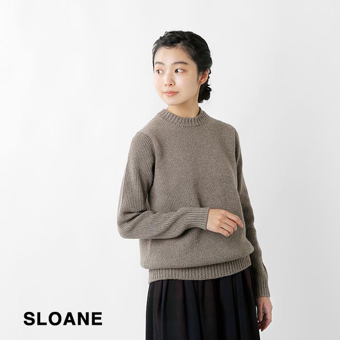 SLOANE(スローン)3G&5Gジーロンラム×カシミヤクルーネックニットプルオーバーsl6w-188