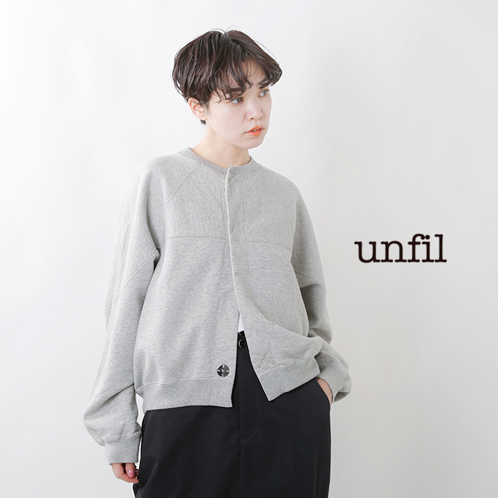 unfil(アンフィル)ヴィンテージコットンフリースクロップドカーディガン wofl-uw127