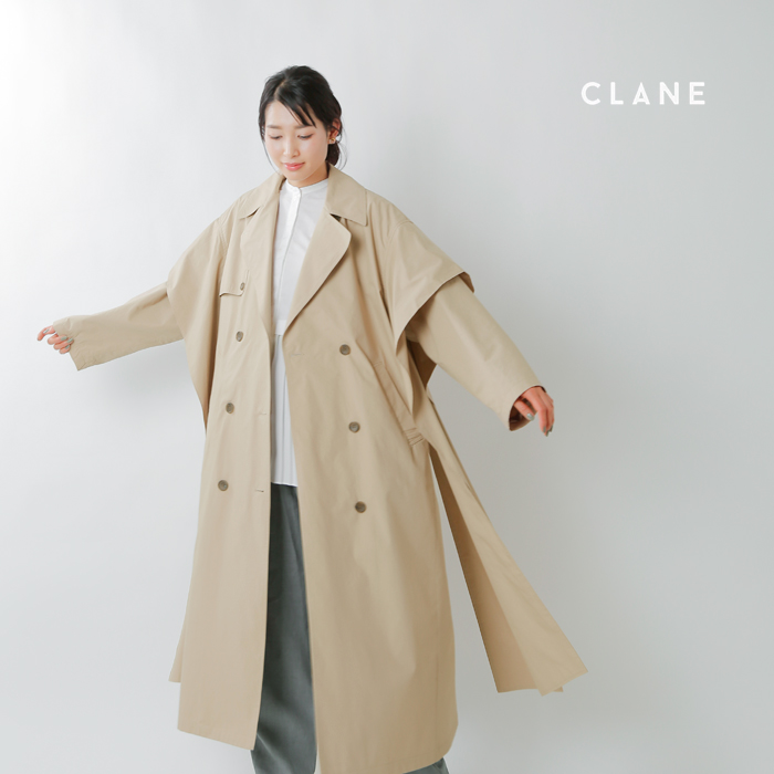 CLANE(クラネ)サイドリボントレンチコート 10101-0032